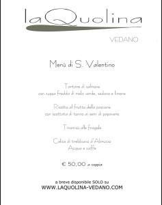 Menù San Valentino - Laquolina Vedano